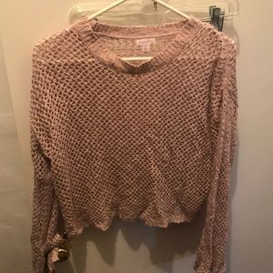 Long sleeve crop
